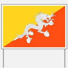 Bhutan - National Flag - Current Yard Sign