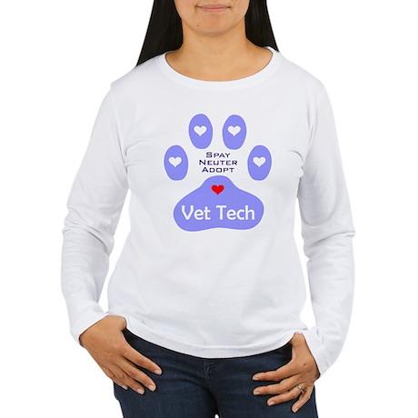 Vet Tech Adopt Paw 11 Women's Long Sleeve T-Shirt