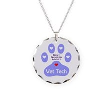 Vet Tech Adopt Paw 11 Necklace