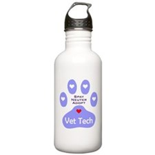 Vet Tech Adopt Paw 11 Water Bottle