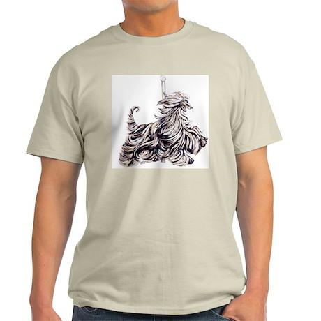 Afghan Hound Carousel I Light T-Shirt