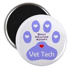 Vet Tech Adopt Paw 11 Magnet