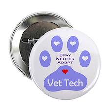 "Vet Tech Adopt Paw 11 2.25"" Button"