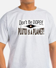 Pluto is a Planet Dopey Ash Grey T-Shirt