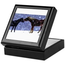 Snow Horse Friends Keepsake Box