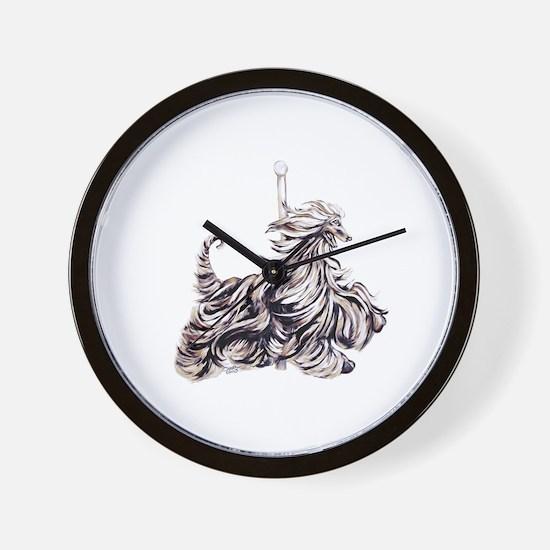 Afghan Hound Carousel I Wall Clock