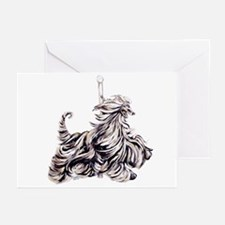 Afghan Hound Carousel I Greeting Cards (Package of