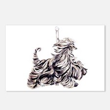 Afghan Hound Carousel I Postcards (Package of 8)