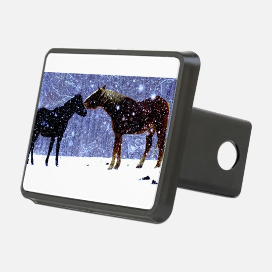 Snow Horse Friends Hitch Cover