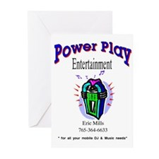 power play entertainment Greeting Cards (Package o