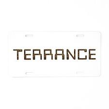 Terrance Circuit Aluminum License Plate