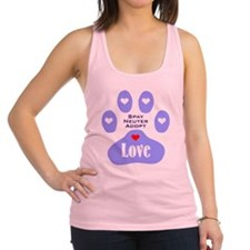 Paw Of Love Racerback Tank Top
