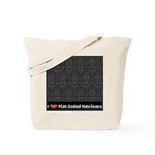 I Love Flat Coats Tote Bag