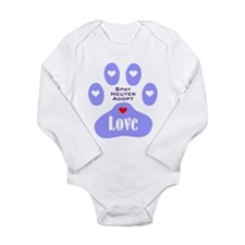 Paw Of Love Long Sleeve Infant Bodysuit