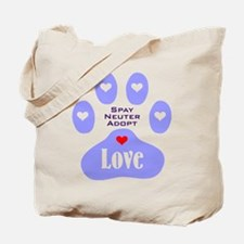 Paw Of Love Tote Bag