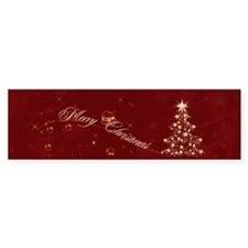 Red Golden Christmas Bumper Sticker