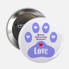 """Paw Of Love 2.25"""" Button (10 pack)"""