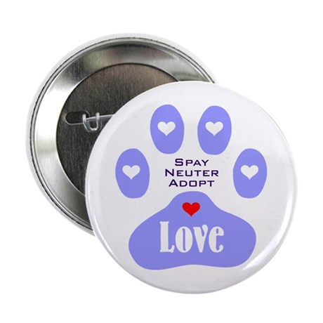 """Paw Of Love 2.25"""" Button"""