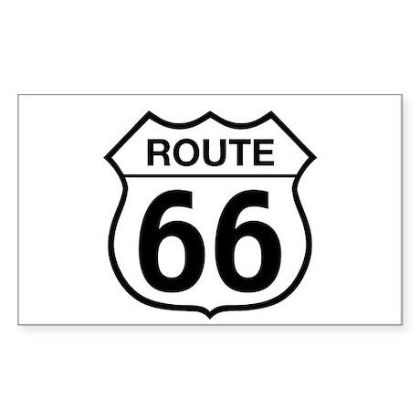 Route 66 Rectangle Sticker