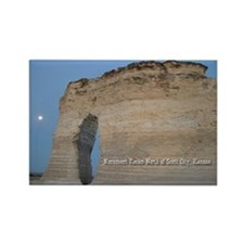 Moon At Monument Rocks Rectangle Magnet (100 pack)