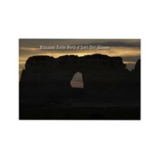Sunset Through the Ke Rectangle Magnet (100 pack)