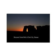 Sundown Monument Rocks Rectangle Magnet (100 pack)