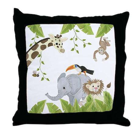 Jungle Animal Throw Pillow
