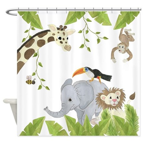 Jungle Animal Shower Curtain By TotsOFun