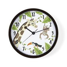 Jungle Animal Wall Clock