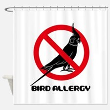 The Bird flied off from Nix Sign Shower Curtain