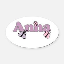 Anna Butterfly Oval Car Magnet