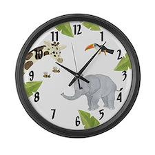 Jungle Animal Large Wall Clock