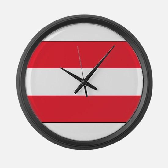 Austria - National Flag - Current Large Wall Clock