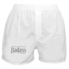 Badass Geek Gray Boxer Shorts