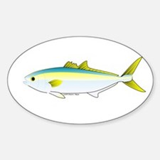 California Yellowtail fish Sticker (Oval)