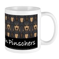 I Love Doberman Pinschers Mug