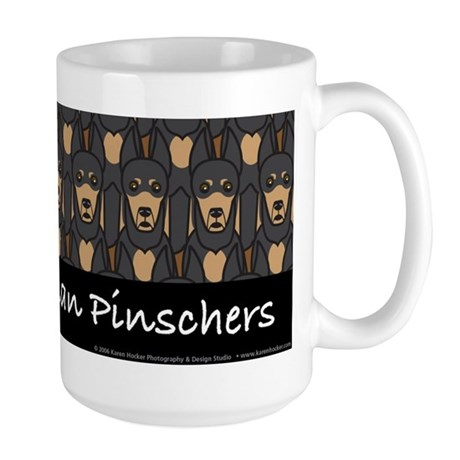 I Love Doberman Pinschers Large Mug