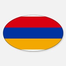 Armenia - National Flag - Current Sticker (Oval)