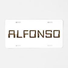 Alfonso Circuit Aluminum License Plate