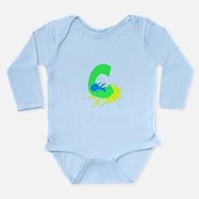 Letter C Paint Long Sleeve Infant Bodysuit