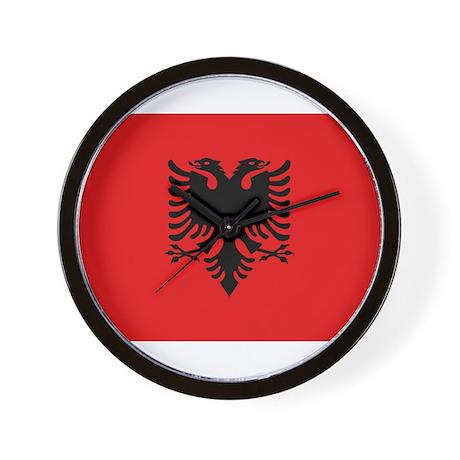 Albania - National Flag - Current Wall Clock