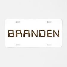 Branden Circuit Aluminum License Plate