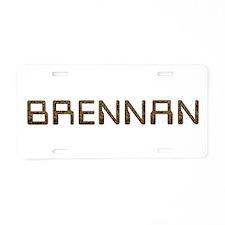 Brennan Circuit Aluminum License Plate