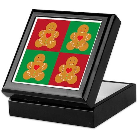 Gingerbread Man Christmas Keepsake Box
