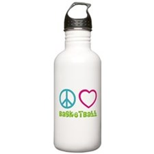 Peace Love Basketball Water Bottle