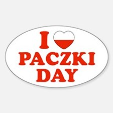 I Heart Paczki Day Oval Decal