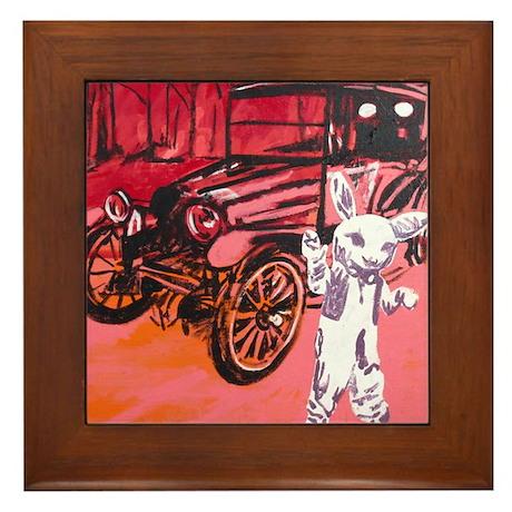 Classic car mascot Framed Tile