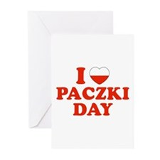 I Heart Paczki Day Greeting Cards (Pk of 10)