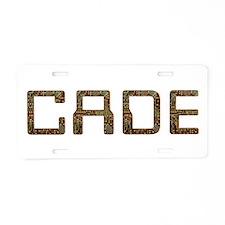 Cade Circuit Aluminum License Plate