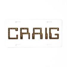 Craig Circuit Aluminum License Plate